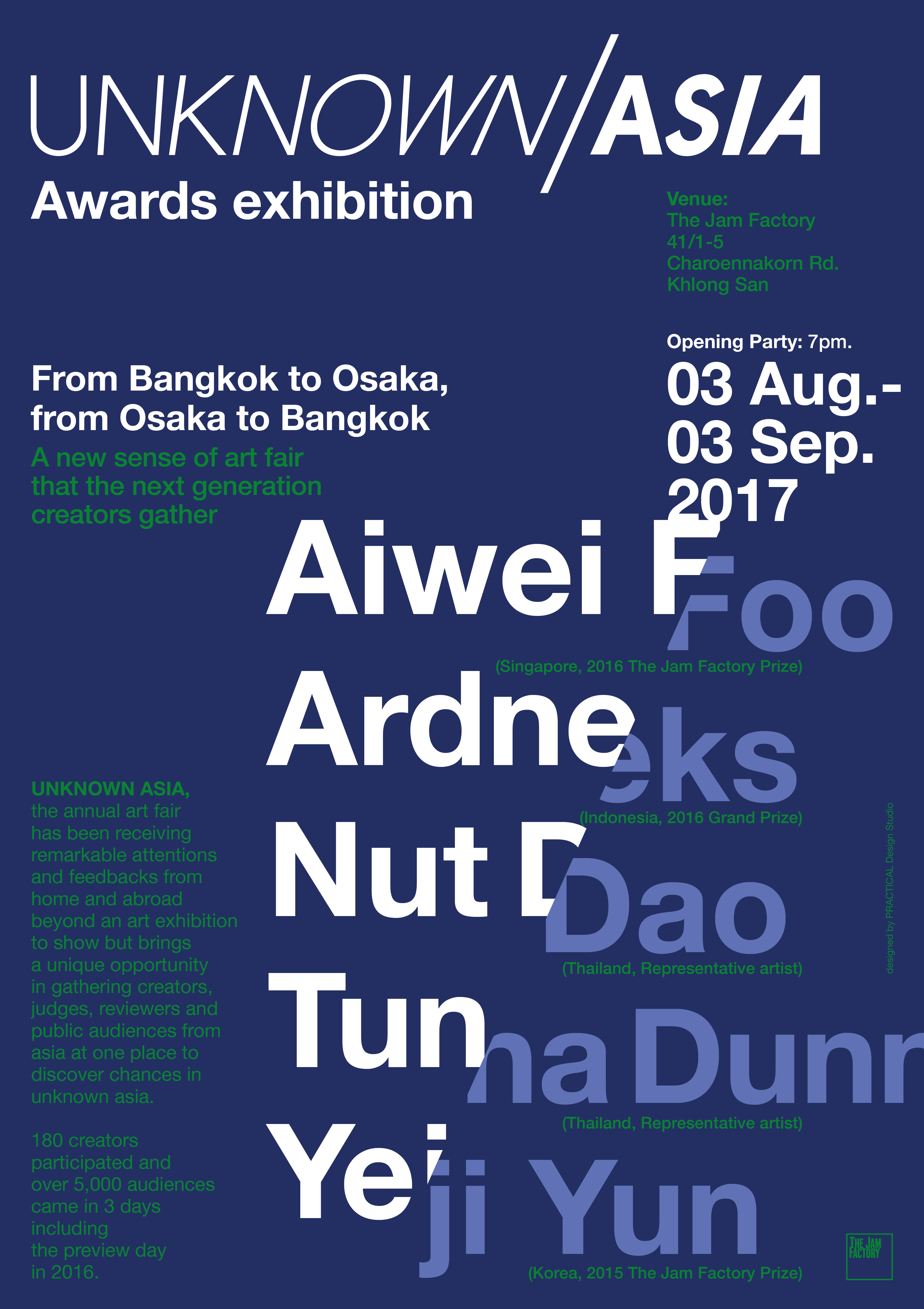 UNKNOWN ASIA Awards Exhibition in バンコク/